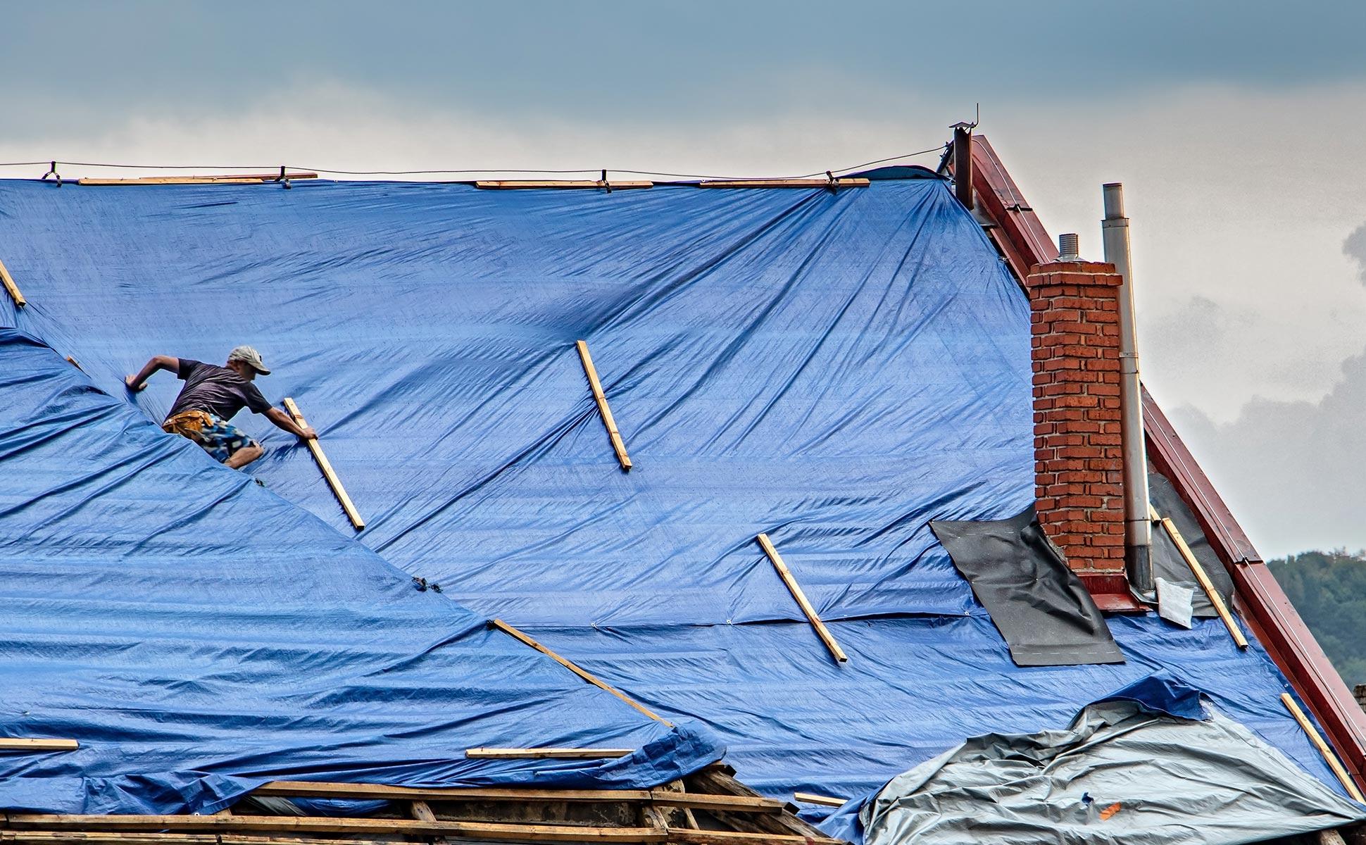 Réparation de toiture en urgence