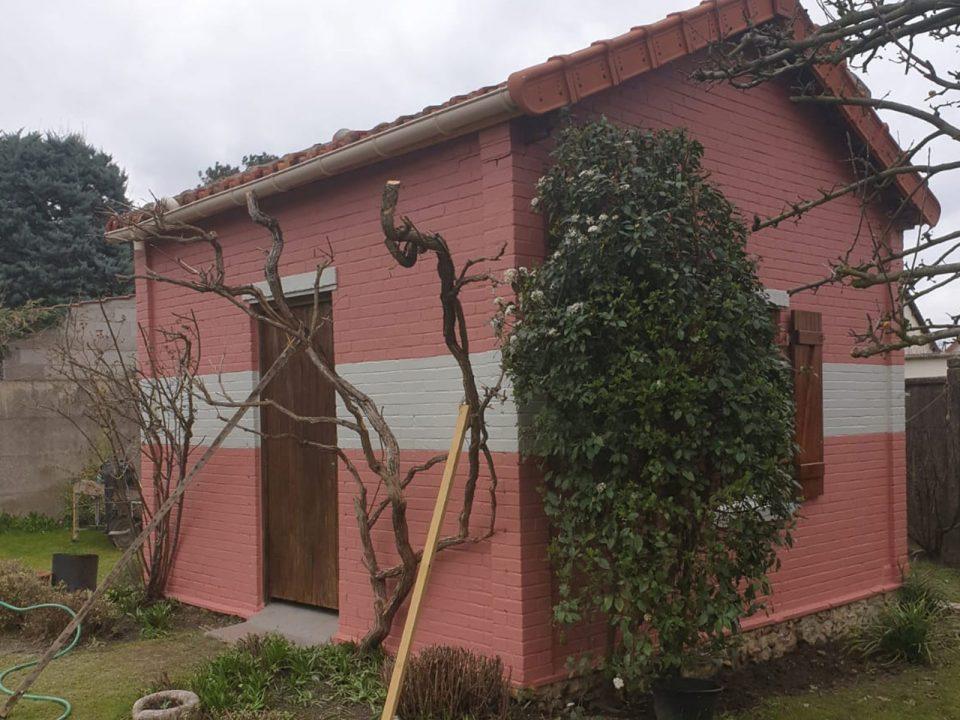 Rénovation d'un abris de jardin maçonnerie en Essonne