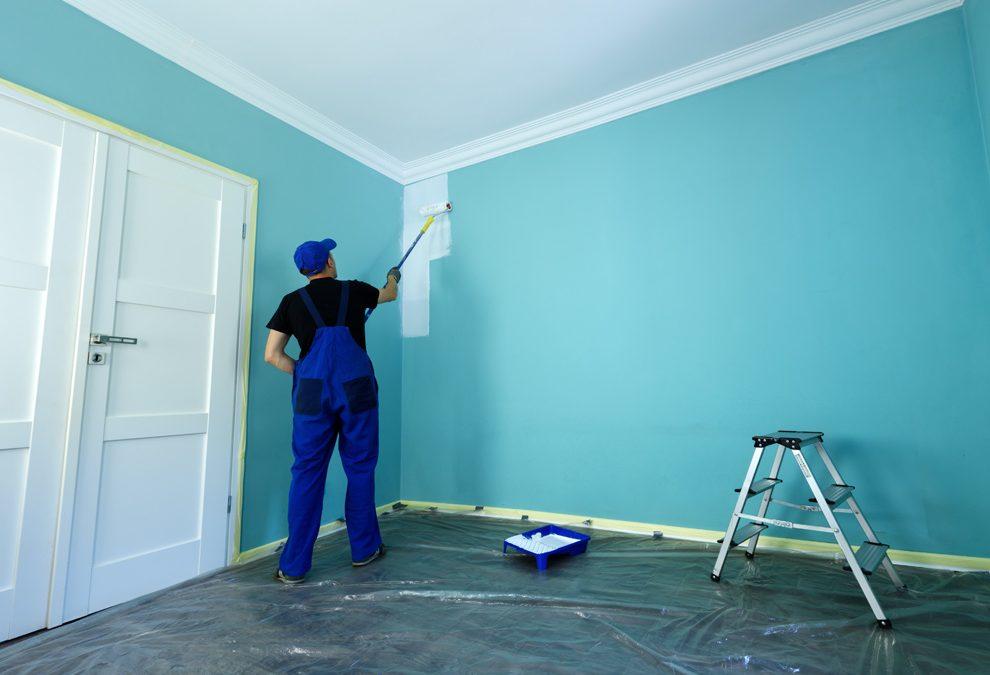 Peinture mur coloré en blanc