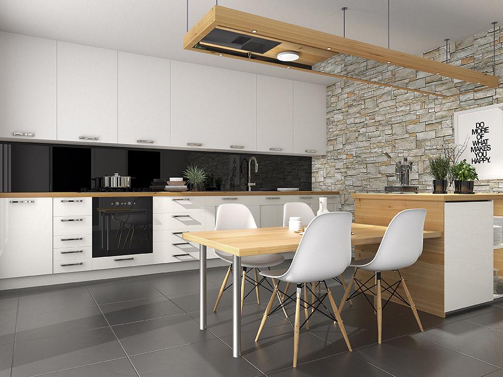 Rénovation de cuisine avec carrelage