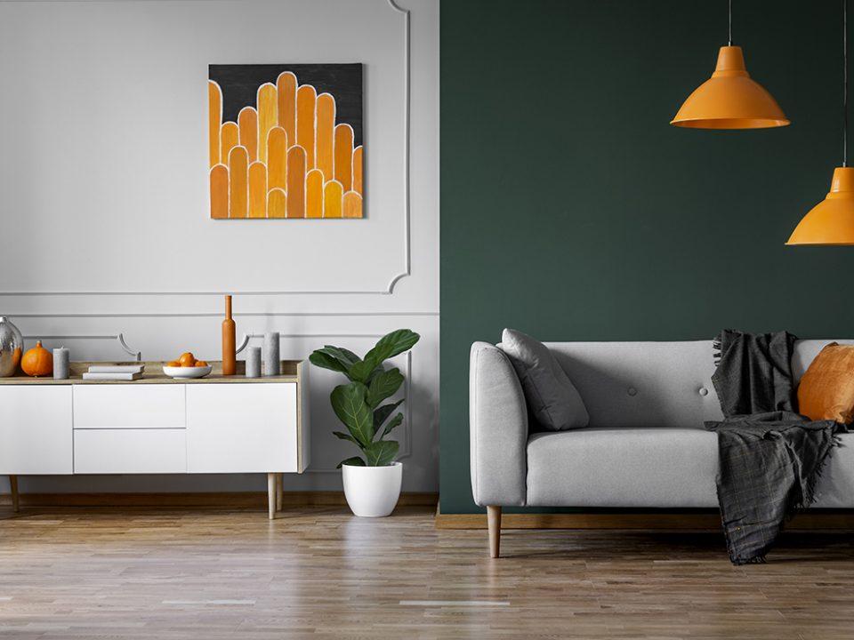 Peinture pour salon avec parquet